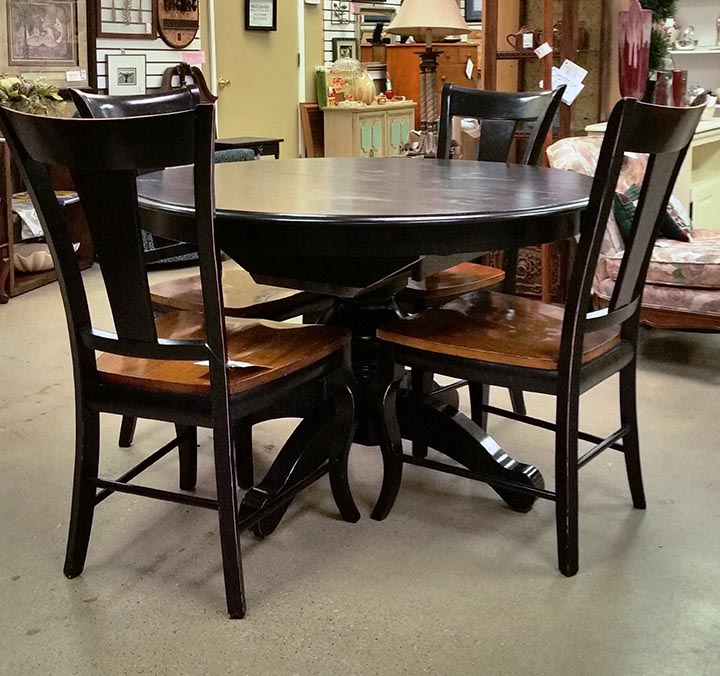 Brown Solid wood table & chairs